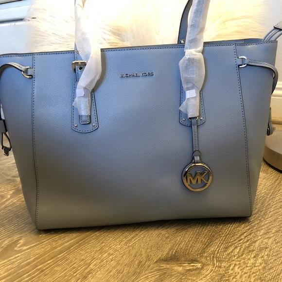 9b236648486a68 Michael Kors Bags | Voyager Blue Leather Tote Shopper Nwt | Poshmark